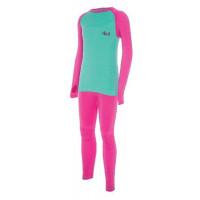 Viking Arata Kids underwear (SET) tyrkysová/ružová